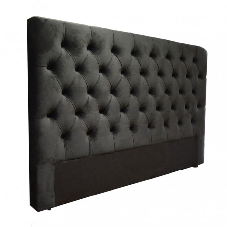 t te de lit capitonn e boutons cuir tissu microfibre toutes dimensions. Black Bedroom Furniture Sets. Home Design Ideas