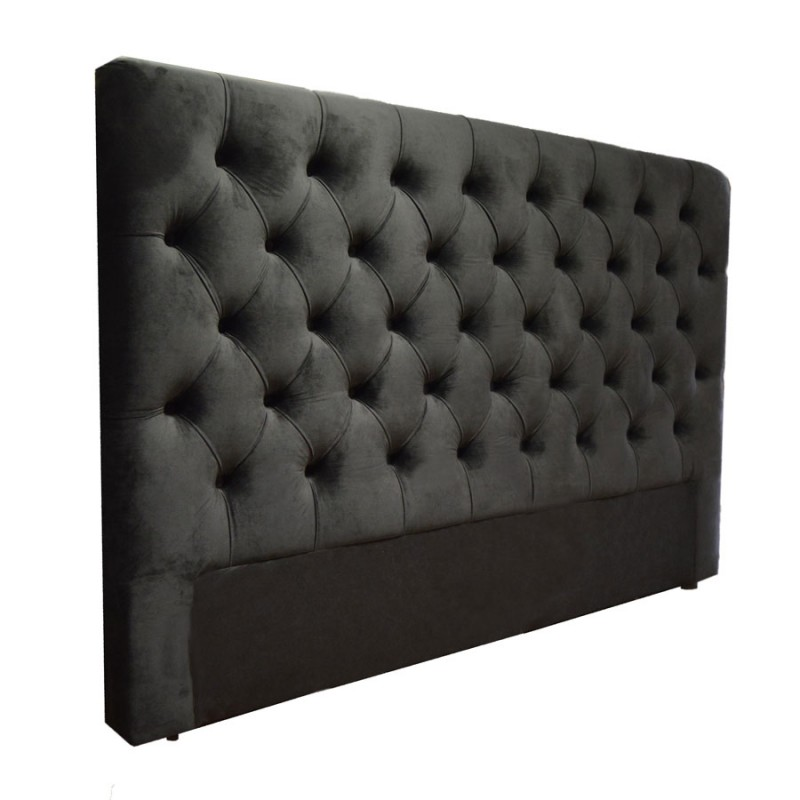 t te de lit capitonn e boutons cuir tissu microfibre. Black Bedroom Furniture Sets. Home Design Ideas