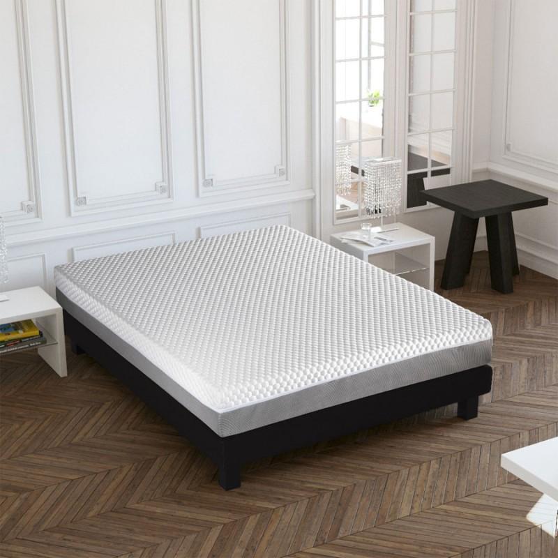 matelas d houssable crown bedding mousse m moire de forme 140x190cm. Black Bedroom Furniture Sets. Home Design Ideas